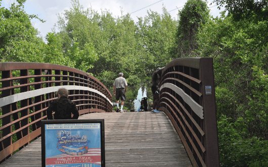 Bridge Entering Oyster Creek Park