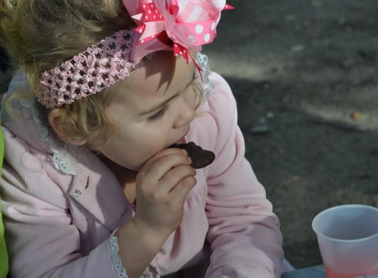 Brooke Eating Cookie at Polar Bear Party