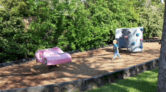 Car and Climbing Wall at Mulberry Park