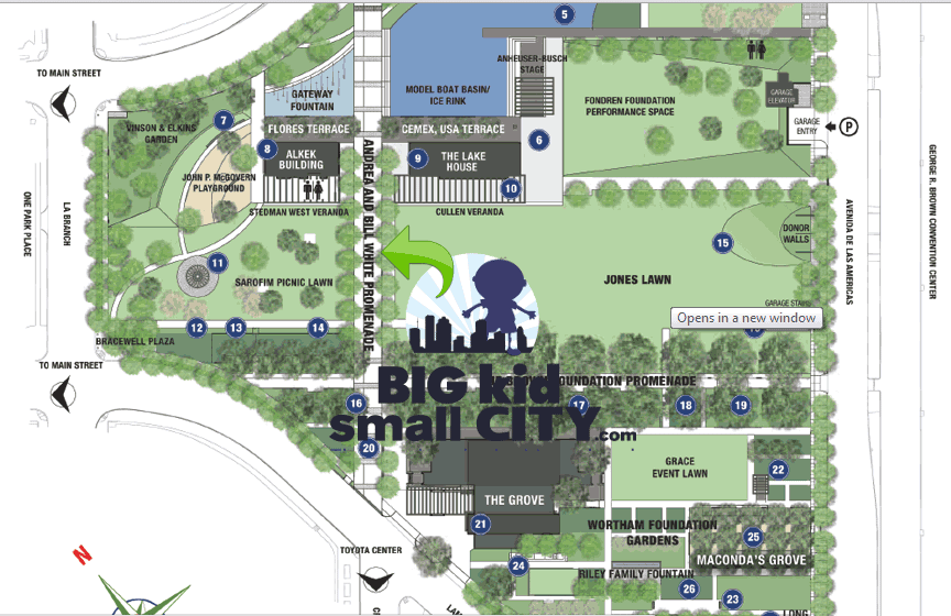 Discovery Green Map for Monster Truck Event