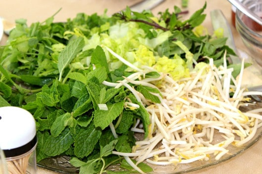 Greens and Sprouts for Spring Rolls