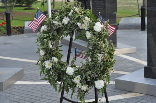 Kia Monument Wreath at CyChamp Park
