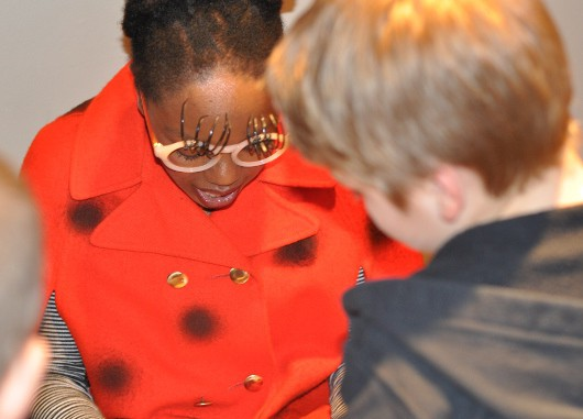 Lady Bug Signing Autographs from James and the Giant Peach