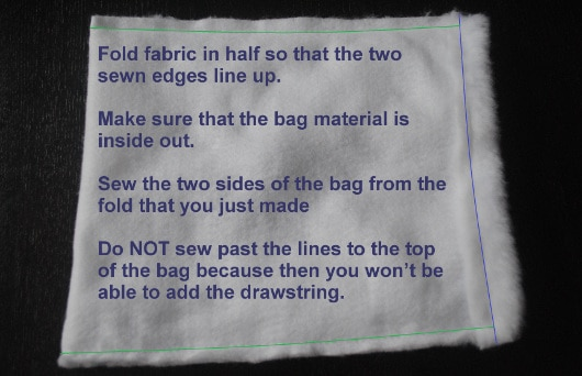 Step 3 Sew Sides of Bag