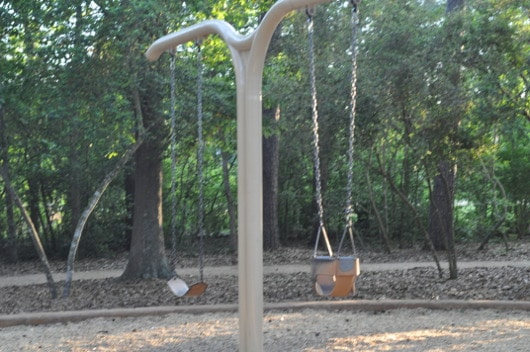 Swings at Cy Champ Park