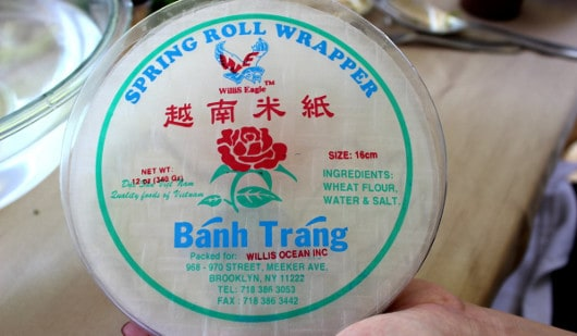 Wrappers for Spring Rolls