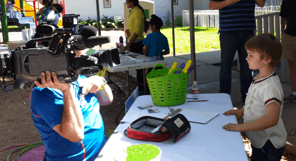 ABC 13 Filming Kids Market