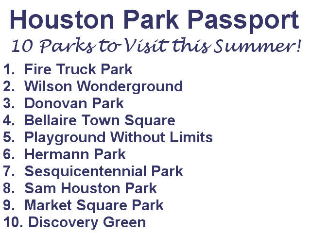 Houston Parks Passport1