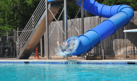 Play and cool off at Evergreen Park and Pool
