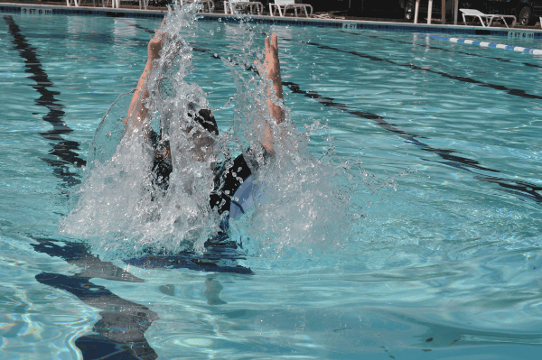 Splashing at Evergreen Park Pool