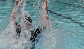 Splashing at the Houston Pool