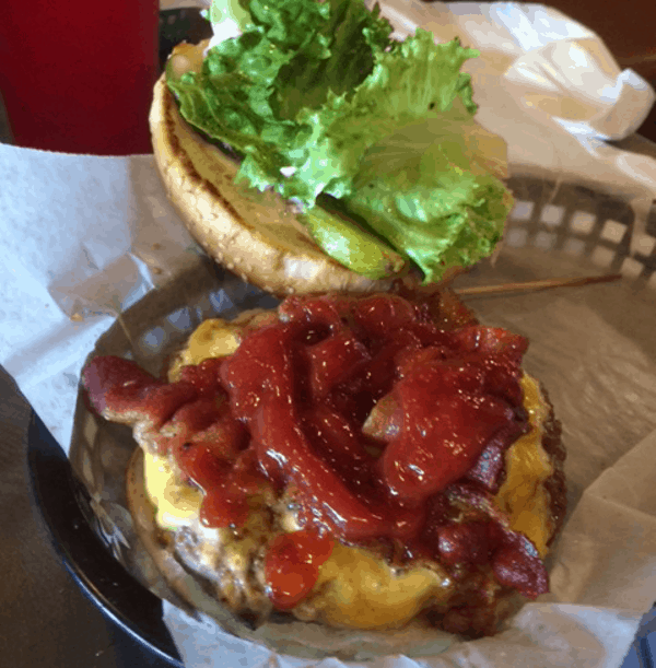 Bacon Cheese burger at Island Grill