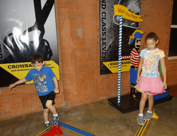 Balance Beam at Houston Museum of Nature Science Sugar Land