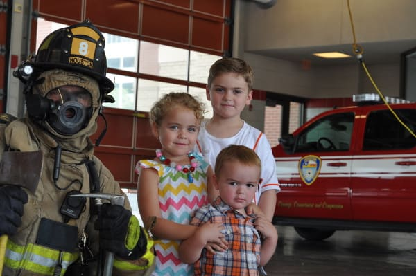 Joe Brooke James at Fire Station 8