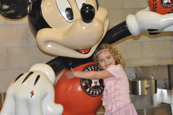 Mickey Mouse at Minute Maid Park