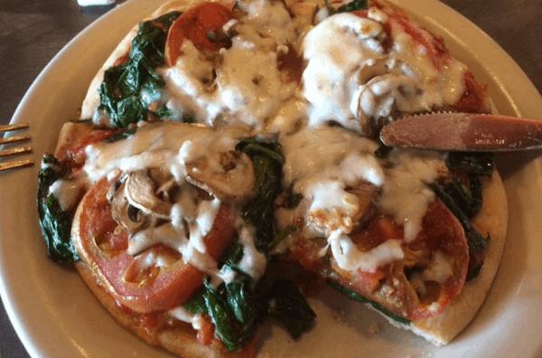 Pita Pizza at Island Grill