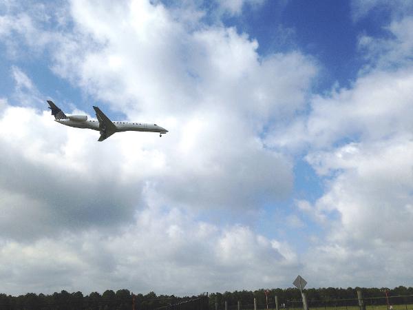 Planes over Houston