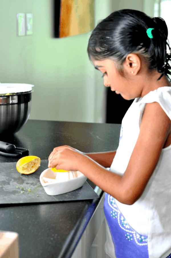 Squeezing Lemons for Summer Dinner