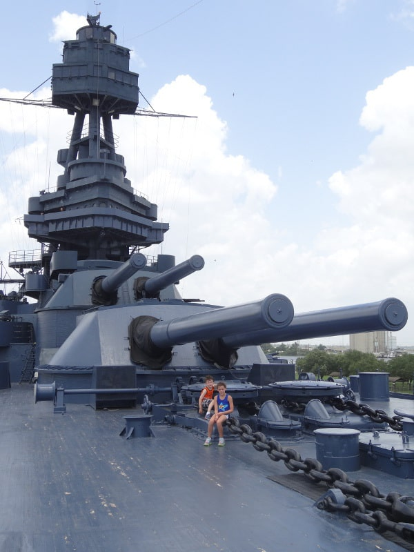 Top of Battleship Texas