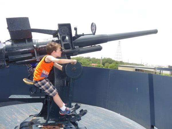 Xander at Battleship Texas