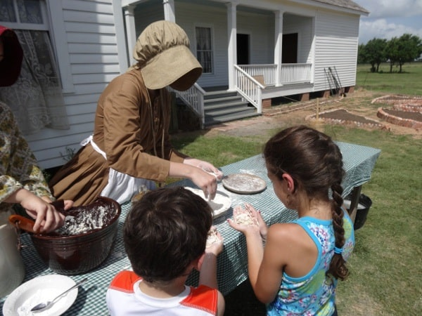 5 Ryon biscuits at George Ranch Historical Park