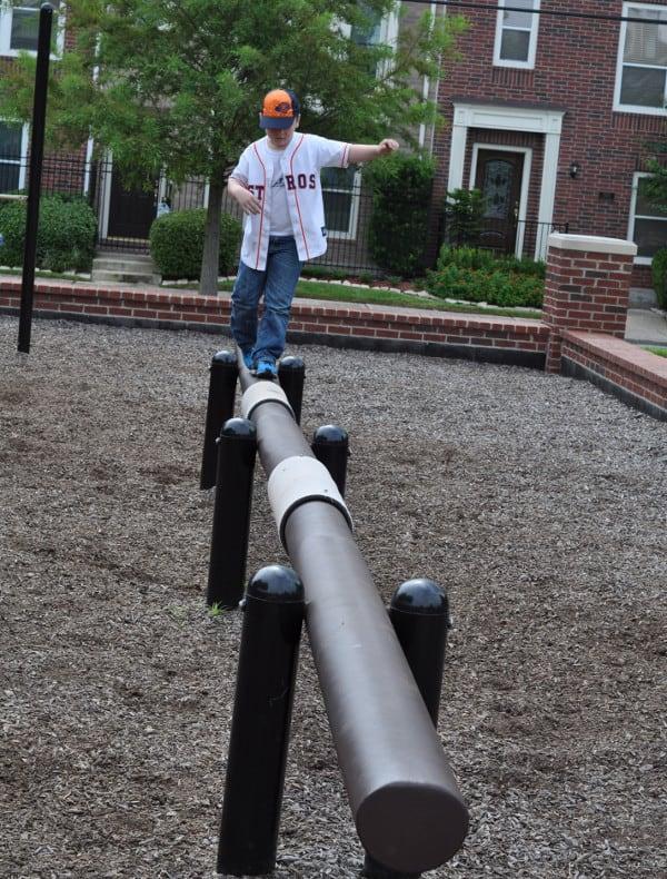 Balance Beam at West Webster Park