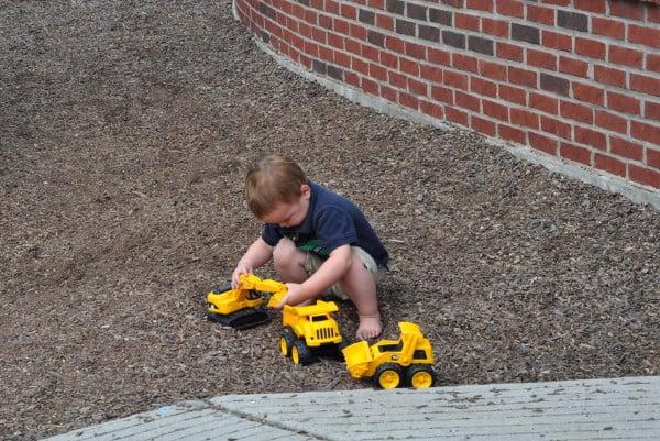 Digging at West Webster Park
