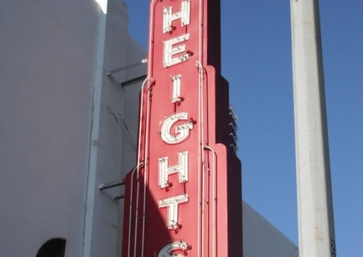 Heights Sign