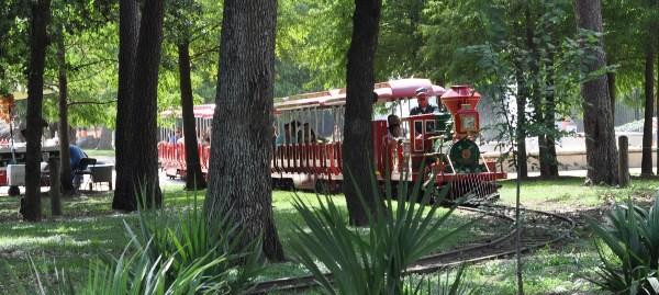 Hermann Park Train in Trees Close