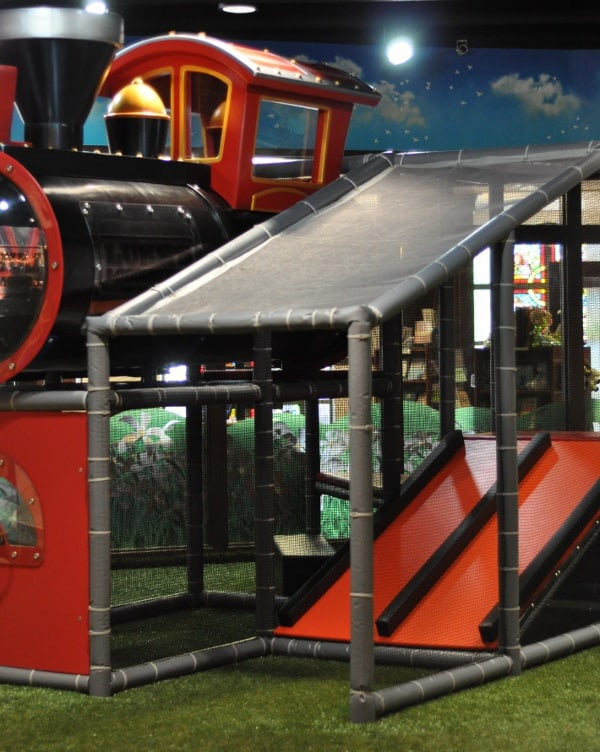 Main Street Indoor Park Play Structure and Slide