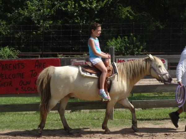 Riding Horses at Old Mac Donalds Farm