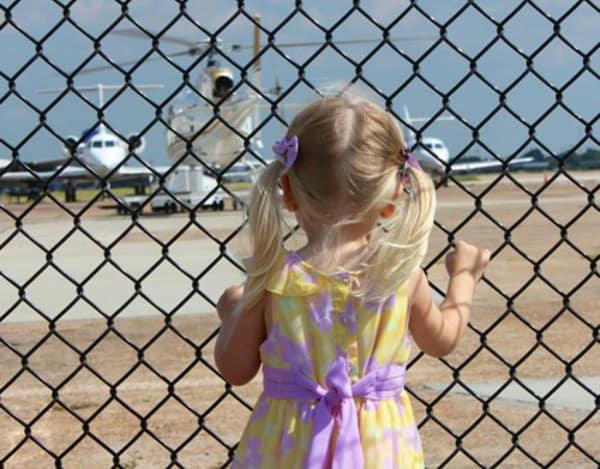 1940 Air Terminal Museum Watching AirplanesF