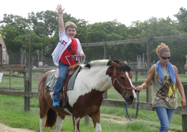 Joe Pony Ride at Bayou Wildlife Park