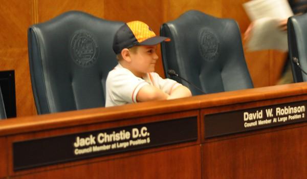 Joe at City Hall