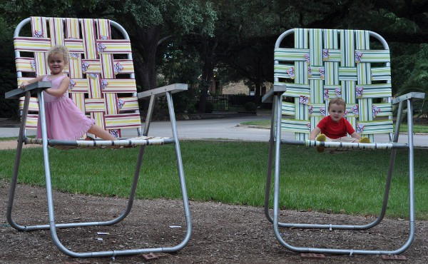 Chairs on Heights Blvd Path