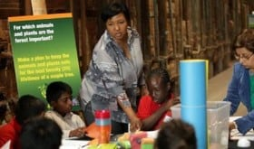 Dr. Jemison in Action with Science Experiments