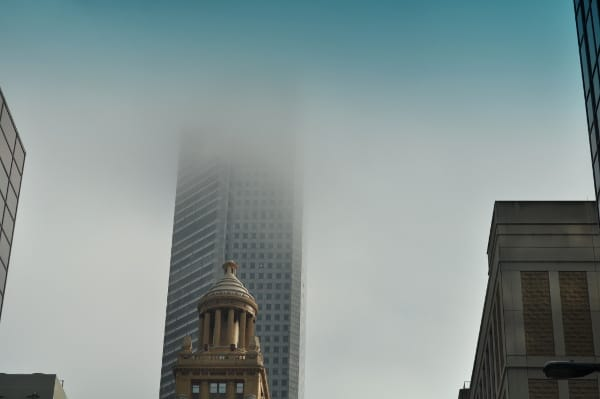JP Morgan Chase Tower in Fog