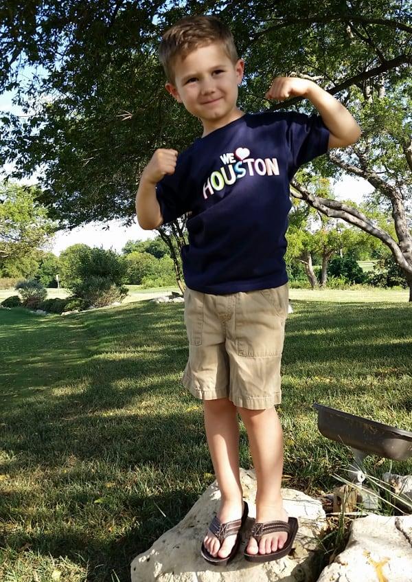 Marcella Fewox I Love Houston Kid Shirt