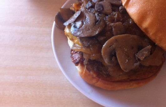 Bernies Burger Bus Mushroom Burger