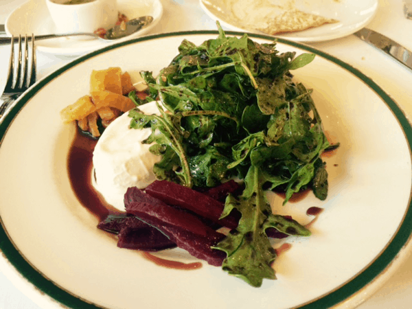 Goat Cheese Panacotta Salad at The Bird and The Bear