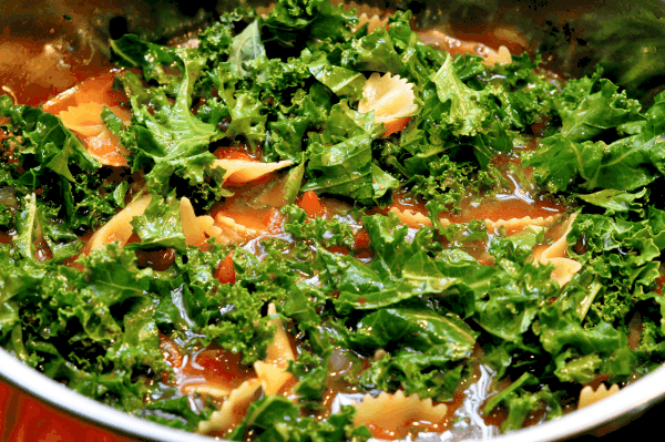 Kale in One Pot Pasta
