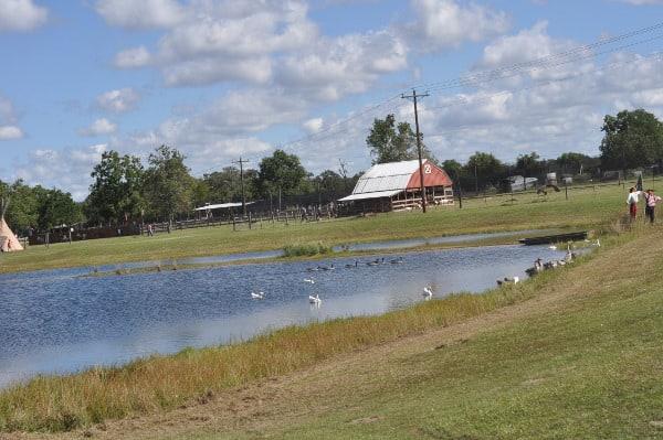 Oil Ranch Lake and Barn