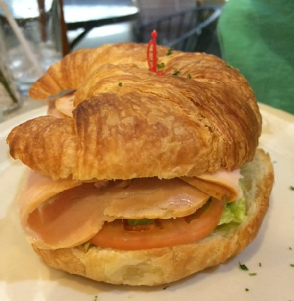Epicure Cafe Turkey Avocado Goat Cheese Croissant