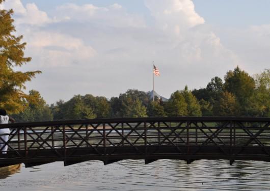 Hermann Park Bridge and Flag
