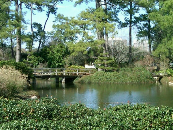 Hermann Park Japanese Garden Bridge