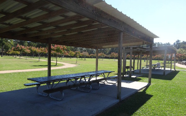 Covered Picnic Tables : Schott park visiting houston s parks one week at a time
