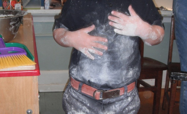 Tummy Covered in Flour