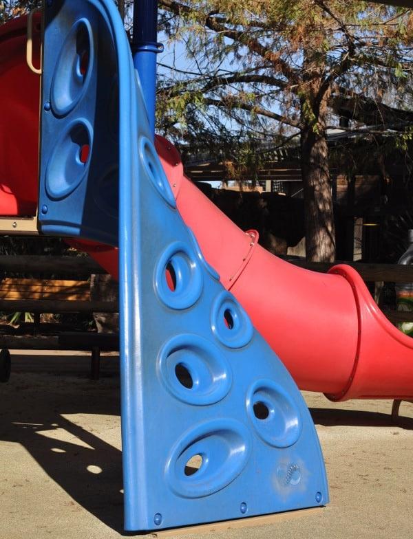 Climbing Wall at Playground at Houston Zoo
