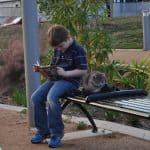 Joe Reading at Mandell Park