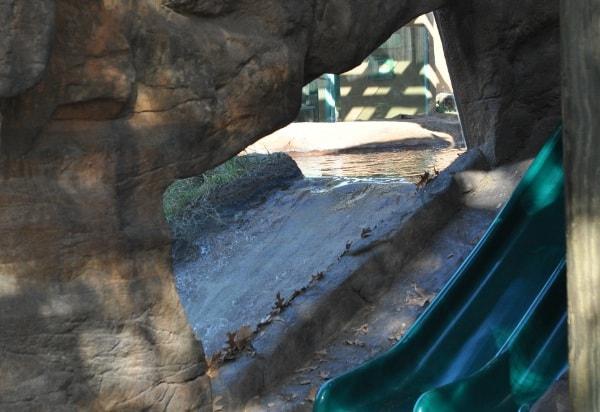 Otter Slide at Houston Zoo
